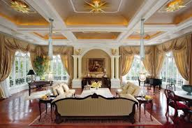 living room luxury interior designs lounges brown draperies