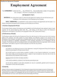 job contract templates view sample full time employment contract