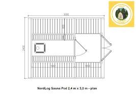 north log sauna pod 2 4 x 3 0m garden house hut outdoor ebay
