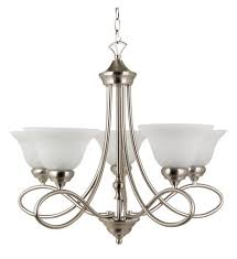 Brushed Nickel Chandeliers Patriot Lighting Rianto 5 Light Brushed Nickel Chandelier At Menards