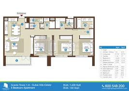 studio floor plans 400 sq ft acacia in dubai hills estate
