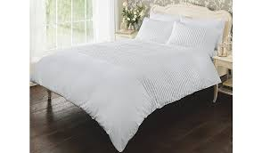 luxury by george home white pintuck duvet set double duvet