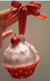 make your own cupcake ornament dollar store bulb cupcake paper