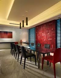 44 immaculate dining rooms by top designers worldwide pictures this stunning dining area is bold and daring the modern glass topped table and coordinating