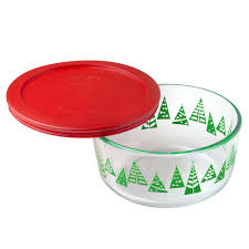 pyrex simply store 4 cup green christmas tree holiday storage