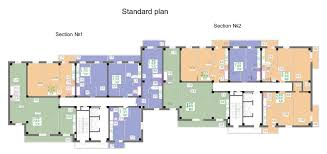 apartment block at housing estate klochko plan standard storey