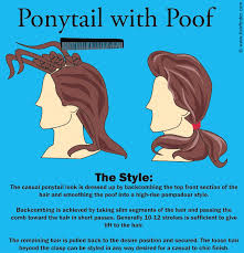 poof at the crown hairstyle how to do a ponytail with a poof