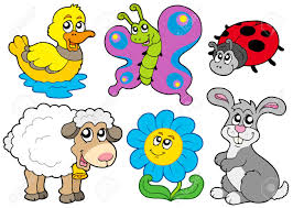 spring animals collection royalty free cliparts vectors and