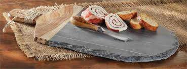 mud pie cheese board slate wood board set mud pie