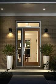 prairie style modern prairie style home east features glass front door transom