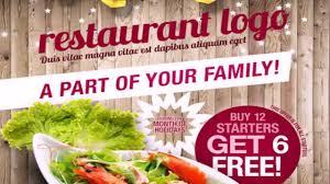 food templates free download modern restaurant food menu flyer photoshop template youtube