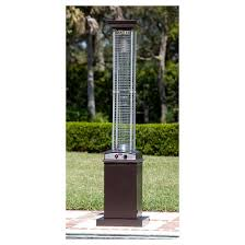 Flame Patio Heater Hammered Finish Square Flame Patio Heater Brown Fire Sense