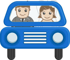 cartoon car png couple going in car cartoon vector png clipart download free