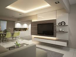 HDB Resale Room Modern Contemporary Tv ünitesitv Wall - Modern tv wall design