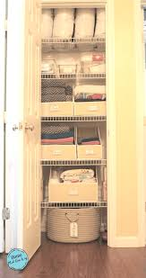 Linen Closet Linen Closet How To Easily Organize A Narrow Linen Closet