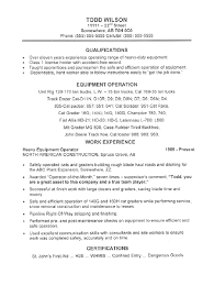 Extensive Resume Sample by This Equipment Operator Resume Sample With Extensive Industry