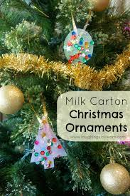 milk carton christmas ornaments laughing kids learn