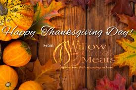 wishing you a happy thanksgiving day willow creek