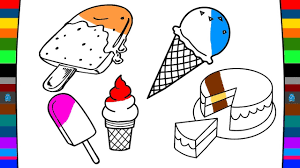 ice cream coloring pages drawing and coloring art of painting