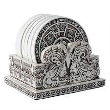 Angels Home Decor by Aztec Bone Resin Calendar Coaster Set