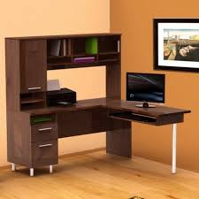Small L Shaped Desks For Small Spaces Furniture Outstanding Corner Computer Desk With Hutch Design