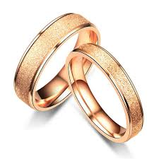 4mm ring 4mm 6mm stainless steel dull ring gold promise ring