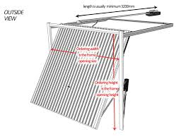 Garage Length by Up And Over Garage Door Measurement Guide Canopy U0026 Retractable Up