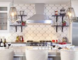 built in eclectic kitchen with decorating ideas also barstools and