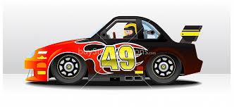 nascar racing car cartoon u2013 buy stock cartoons royalty free