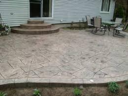 Color Concrete Patio by Stamped Concrete Ideas Stamped Concrete Patio Designs Calico