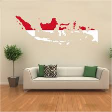 home decor indonesia flag map of indonesia wall vinyl sticker pattern custom home decor