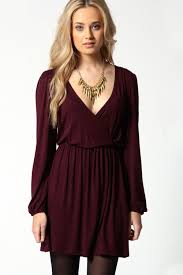 sleeve wrap dress jersey sleeve wrap dress boohoo