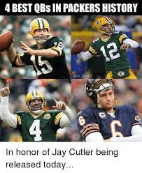 Cutler Meme - 4 best qbsin packers history memes a riddell in honor of jay cutler