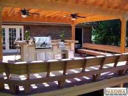 benches seating trex deck with benches and pergola cfc fences