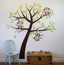 childrens cheeky monkey tree wall stickers by parkins interiors