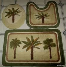 Palm Tree Bathroom Rug Colony Palm Tree Tropical Bath Accessories Palm Bathroom Sets
