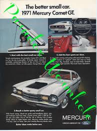 vintage 1970 70 u0027s mercury comet gt man cave wall art decor ad