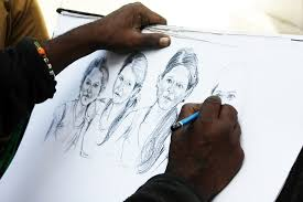 free photo pencil sketch artist sketching free image on