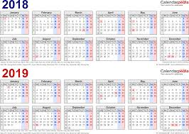2 page monthly planner template two year calendars for 2018 2019 uk for pdf template 1 pdf template for two year calendar 2018 2019 in blue red