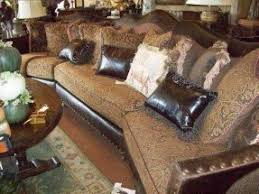Leather And Upholstered Sofa Mixing Leather And Fabric Sofas Home Design Ideas And Pictures