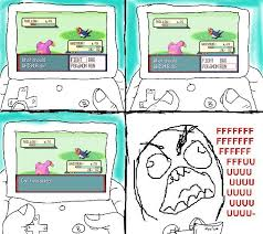 Pokemon Game Memes - pokemon rage guy meme by thepadlokchild on deviantart