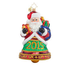 christopher radko ornaments 2015 radko santa clapper bell