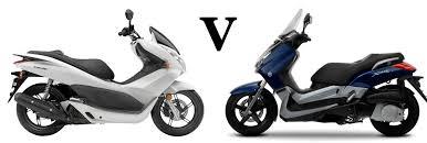 versus honda pcx125 vs yamaha x max 125 visordown