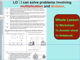 2 whole lesson multiplication and division word problems based