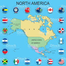 Map Bahamas North America Flags Around The Maps Stock Vector Art 510491818
