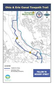 Map Of Akron Ohio by Towpath Akron Waterways Renewed