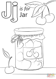 letter j is for jar coloring page free printable coloring pages