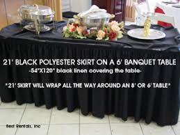 8 ft table skirt 8ft x 30in table skirt special event wedding and party rental