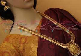 nl11079 kerala style temple jewellery south indian haram designs
