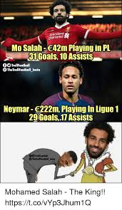 Meme Mo - fc standard chartered mo salah 42m playing in pl 31 goals 10